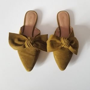 Madewell Remi Bow Mule Spiced Olive